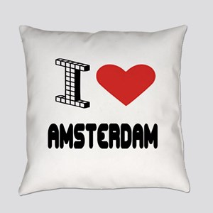 I Love Amsterdam City Everyday Pillow