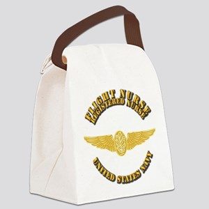 Navy - Flight Nurse - RN Canvas Lunch Bag