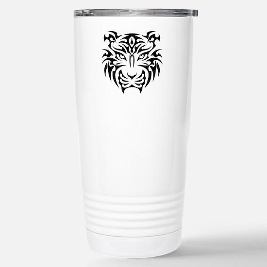 Tribal Tiger Stainless Steel Travel Mug