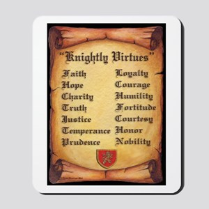 Knightly Virtues Mousepad