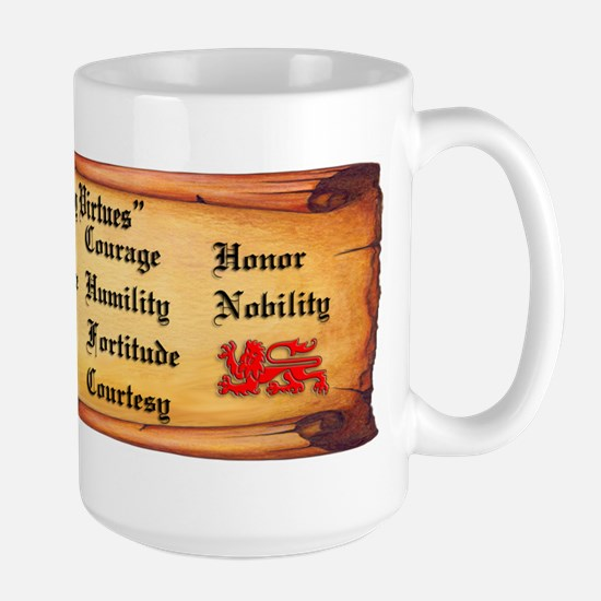 Knightly Virtues Large Mug