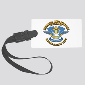 Search and Rescue Swimmer Large Luggage Tag