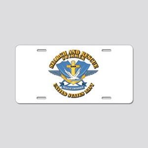 Search and Rescue Swimmer Aluminum License Plate