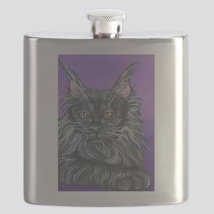 Maine Coon Cat Flask