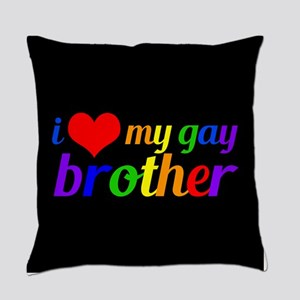 Gay Brother Rainbow Everyday Pillow