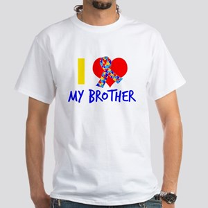 Autism Brother Love White T-Shirt