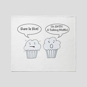 Talking Muffin Joke Throw Blanket