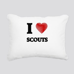 I love Scouts Rectangular Canvas Pillow