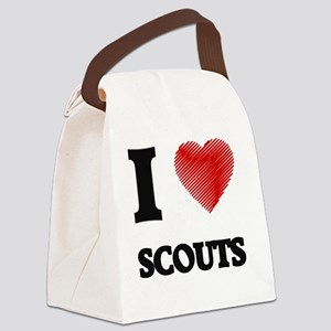 I love Scouts Canvas Lunch Bag