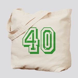 40 Green Birthday Tote Bag