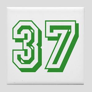 37 Green Birthday Tile Coaster