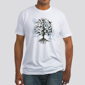 Guitar Tree Roots Fitted T-Shirt