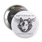 Angel Wolf Button