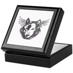 Angel Wolf Keepsake Box