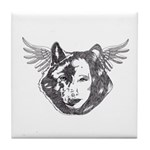 Angel Wolf Tile Coaster