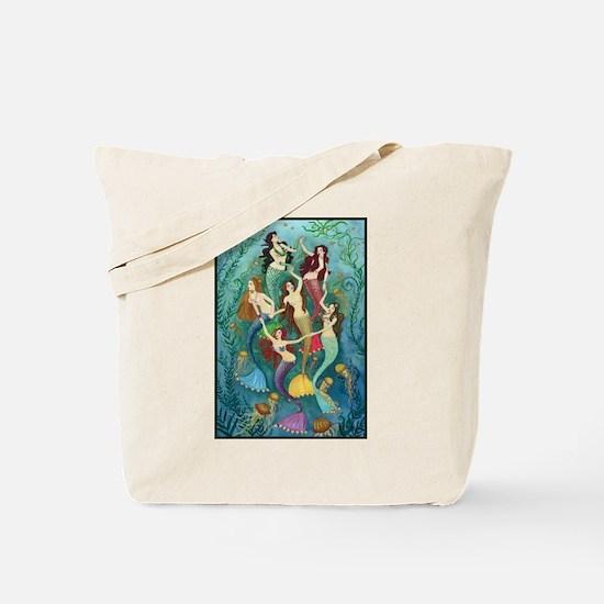 Pretty Mermaid Princesses Tote Bag