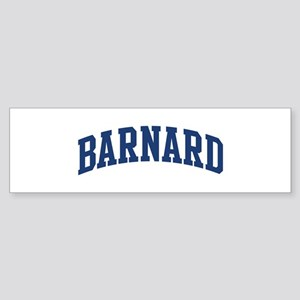 BARNARD design (blue) Bumper Sticker