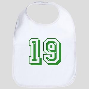 19 Green Birthday Bib