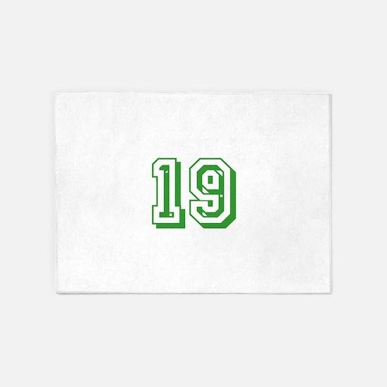 19 Green Birthday 5'x7'Area Rug