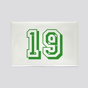 19 Green Birthday Rectangle Magnet