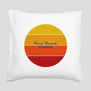 Florida - Vero Beach Square Canvas Pillow