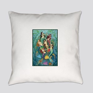 Pretty Mermaid Princesses Everyday Pillow