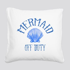 Mermaid Off Duty Square Canvas Pillow