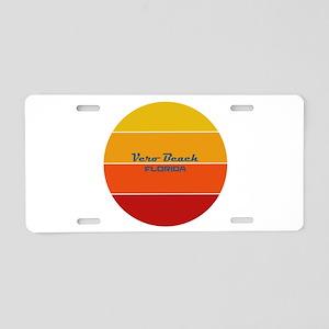Florida - Vero Beach Aluminum License Plate
