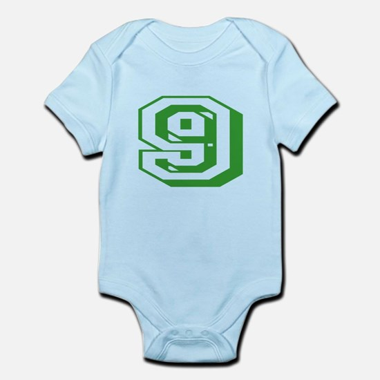 9 Green Birthday Infant Bodysuit