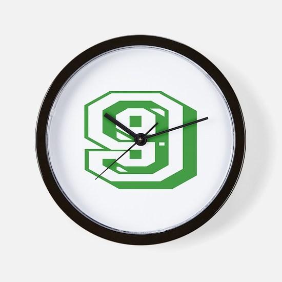 9 Green Birthday Wall Clock