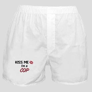 Kiss Me I'm a COP Boxer Shorts