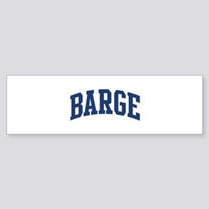 BARGE design (blue) Bumper Sticker