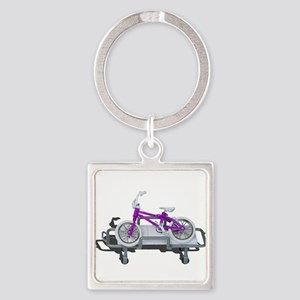 Bicycle Laying on Gurney Keychains
