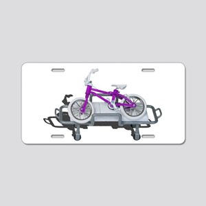 Bicycle Laying on Gurney Aluminum License Plate