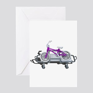 Bicycle Laying on Gurney Greeting Cards