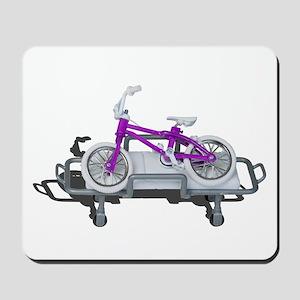 Bicycle Laying on Gurney Mousepad