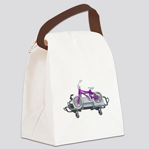 Bicycle Laying on Gurney Canvas Lunch Bag