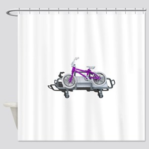 Bicycle Laying on Gurney Shower Curtain