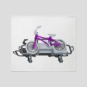 Bicycle Laying on Gurney Throw Blanket
