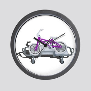 Bicycle Laying on Gurney Wall Clock