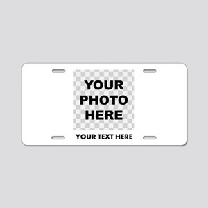 Your Photo And Text Aluminum License Plate