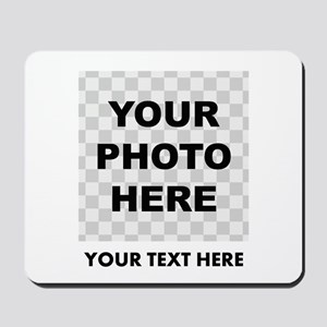 Your Photo And Text Mousepad