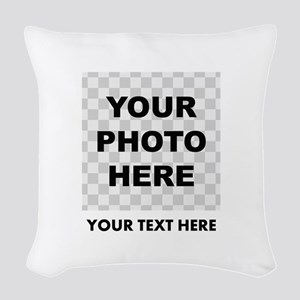 Your Photo And Text Woven Throw Pillow