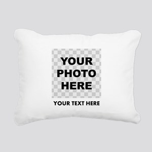Your Photo And Text Rectangular Canvas Pillow