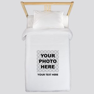 Your Photo And Text Twin Duvet