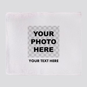 Your Photo And Text Throw Blanket