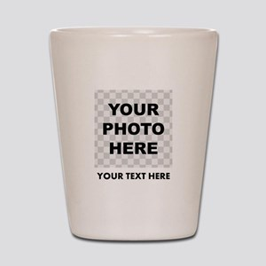 Your Photo And Text Shot Glass