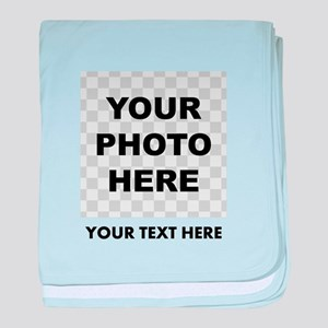 Your Photo And Text baby blanket