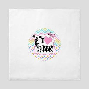 I Love Cheer Queen Duvet
