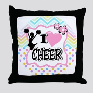 I Love Cheer Throw Pillow